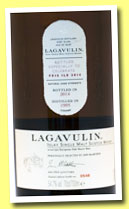 Lagavulin 1995/2014 'Feis Ile' (54.7%, OB, European sherry oak butts, 3,500 bottles)