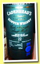 Laphroaig 22 yo 1991/2014 (49.8, Cadenhead, Authentic Collection, bourbon hogshead, 168 bottles)