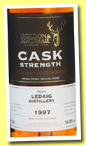 Ledaig 1997/2013 (56.8%, Gordon & MacPhail for The Whisky Exchange, refill sherry, cask #465)