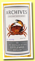 Littlemill 25 yo 1988/2014 (51.9%, Archives, bourbon hogshead, cask #12, 134 bottles)