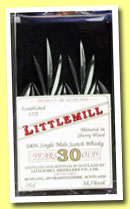 Littlemill 30 yo (38.5%, OB, Edinburgh crystal decanter, 75cl, +/-1985?)