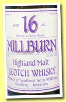Millburn 16 yo 1971/1987 (65.4%, Gordon & MacPhail for Sestante, sherry, 75cl)