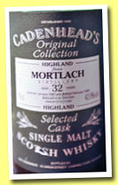 Mortlach 32 yo 1962/1994 (42.8%, Cadenhead, Original Collection)