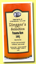 Panama 10 yo 2003/2013 (54.4%, Riegger's Selection, 320 bottles)