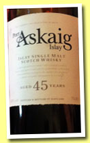 Port Askaig 45 yo (ABV TBF, Specialty Drinks, 2014)