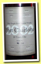 Port Charlotte 10 yo 2002/2012 (63.9%, OB, private bottling for Raz and Marti, fresh sherry hogshead, 151 bottles)