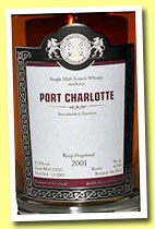 Port Charlotte 2001/2013 (57.5%, Malts of Scotland, Rioja hogshead, cask #MoS 13027, 358 bottles)