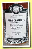 Port Charlotte 2001/2013 (59.2%, Malts of Scotland, Warehouse Dram No.1, cask #MoS 13042, 145 bottles)