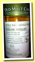 Rosebank 21 yo 1990/2011 (50%, Douglas Laing, Old Malt Cask for Reifferscheid, refill barrel, cask #DL 6492)