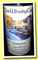 Tomintoul 43 yo 1969/2012 (42.7%, The Whisky Cask, bourbon hogshead)