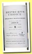 Ledaig 8 yo 2005/2013 (46%, Hunter Laing, Hepburn's Choice, 382 bottles)