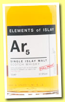 Ar5 (57.8%, Specialty Drinks, Elements of Islay, 2014, 50cl)