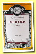 Arran 17 yo 1996/2014 (54,9%, Malts of Scotland, sherry butt, cask #14029, 612 bottles)