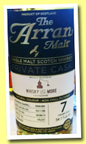 Arran 7 yo 2006/2014 (54.1%, OB for Whisky and More Lausanne, bourbon barrel, cask #2006/009, 241 bottles)