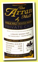 Arran 8 yo 2005/2014 (50.7%, OB for Limburg Whisky Fair, peated barrels, casks # 05/159+05/161, 510 bottles)
