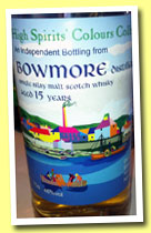 Bowmore 15 yo 1996/2011 (46%, High Spirits' Colours Collection)
