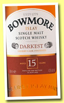 Bowmore 15 yo 'Darkest' (43%, OB, +/-2014)