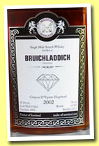 Bruichladdich 2002/2013 (58.2%, Malts of Scotland, Warehouse Diamonds, Château d'Yquem hogshead, cask #MoS 13062, 185 bottles)