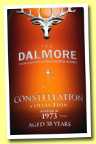 Dalmore 38 yo 1973/2012 'Constellation' (48.1%, OB, hogsheads, finished for 3 years in a cabernet sauvignon, then for four years in fresh bourbon, cask #10)