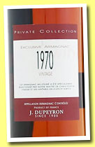 J. Dupeyron 1970 'Private Collection' (40%, OB, Armagnac, blend, +/-2013)