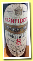 Glenfiddich 8 yo (43° Gay Lussac, OB, Straight Malt, France, M.B.R. S.A. Bordeaux, early 1970s)