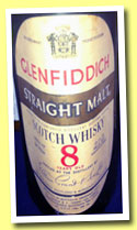 Glenfiddich 8 yo (43° gradi, OB, Straight Malt, Italy, Gancia & C., early 1970s)