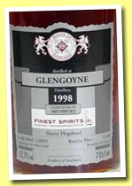 Glengoyne 1998/2012 (52.7%, Malts of Scotland, Finest Spirits, sherry hogshead, cask #MoS 12003, 160 bottles)