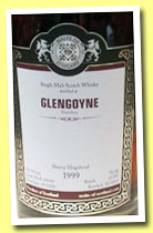 Glengoyne 1999/2013 (54.3%, Malts of Scotland, sherry hogshead, cask #MoS 13044, 247 bottles)