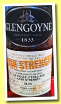 Glengoyne 'Cask Strength Batch 002' (58.9%, OB, 2014)