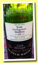 Inchgower 19 yo 1977/1997 (56%, Cadenhead, sherrywood)