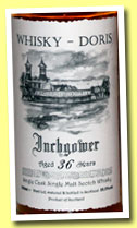Inchgower 36 yo 1974/2010 (55.5%, Whisky-Doris, refill sherry, cask #1476, 167 bottles)