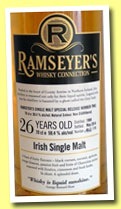 Irish Single Malt 26 yo 1988/2014 (50.4%, Ramseyer's Whisky Connection, 175 bottles)