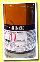 Kininvie 17 yo 1996/2014 'Batch No. 001' (42.6%, OB, 35cl)