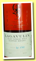 Lagavulin 1997/2013 'Distillers Edition' (43%, OB, lgv 4/502)
