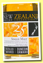 New Zealand Whisky 25 yo (46%, OB, Willowbank, New Zealand, bourbon barrel, 2014)