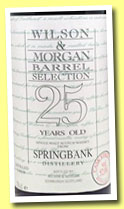 Springbank 25 yo 1969/1995 (52%, Wilson & Morgan, Barrel Selection, sherry butt, cask #95164-3, 420 bottles)