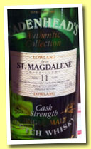 St. Magdalene 11 yo 1982/1994 (62.6%, Cadenhead, Authentic Collection)