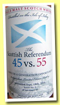 The Scottish Referendum 45 vs. 55 (55%, Reifferscheid, 90 bottles, 2014)