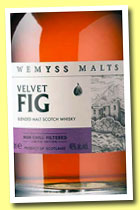 Velvet Fig (46%, Wemyss Malt, blended malt, 6000 bottles, 2014)