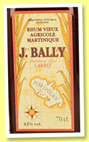 J. Bally 1975 (43%, OB, Martinique, agricole, +/-1995)