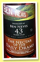 Ben Nevis 43 yo 1970/2014 (44.6%, The Nectar of the Daily Drams, bourbon)