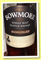 Bowmore 2004/2015 'Hand-Filled' (57.5%, OB, sherry cask)