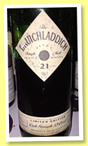 Bruichladdich 21 yo 'Limited Edition' (53.4%, OB, 389 bottles, 1994) Another rare bottle, distilled in the early 1970