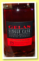 Gélas 18 yo 'Single Cask Double-Matured Porto Barros' (42%, OB, bas-armagnac, 800 bottles, +/-2014)