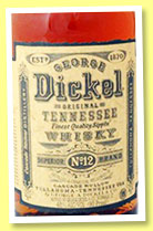 George Dickel 'Tennessee Whisky No. 12' (45%, OB, USA, +/-2014)