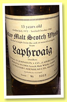 Laphroaig 13 yo 1972/1985 (56%, Cadenhead for Scoma, Germany)