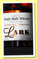 Lark 'Distiller's Selection' (46%, OB, quarter Port cask, cask #387, 2013)