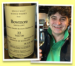 Bowmore 22 yo 1964/1986 (86 US proof, Duthie for Corti Brothers, USA)