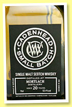 Mortlach 20 yo 1994/2014 (53.4%, Cadenhead, small batch)