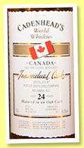 Potter 24 yo (56.5%, Cadenhead, Indian corn whisky, Canada, 2014, bourbon barrel, 126 bottles)